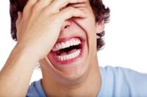Laughing guy closeup